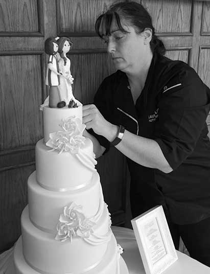Laura with Wedding Cake